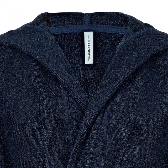 taubert sauna herren robe bademantel mit kapuze l nge 120cm 000907415 dessous insel. Black Bedroom Furniture Sets. Home Design Ideas