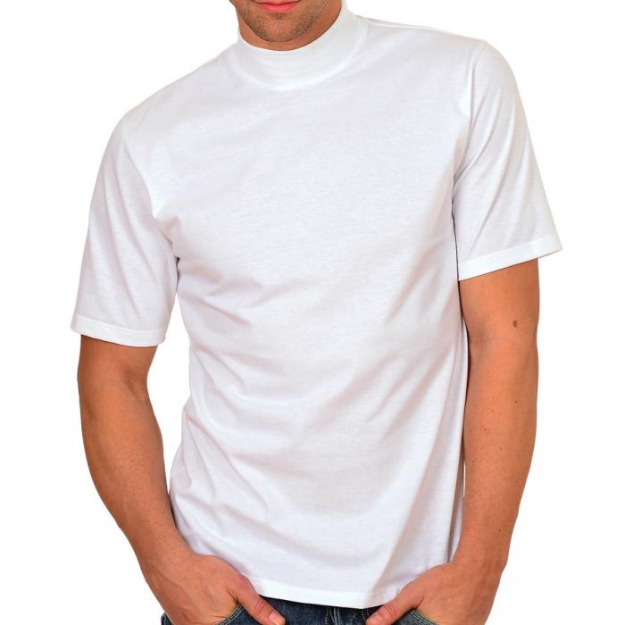 halbarm t shirt mit elastischem stehkragen trigema deluxe single jersey 37209 dessous insel. Black Bedroom Furniture Sets. Home Design Ideas