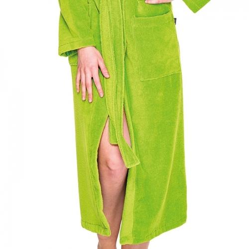 3fa6c4606c Damen Bademantel mit Kapuze Otto Werner by Wewo Fashion 4046 grün ...