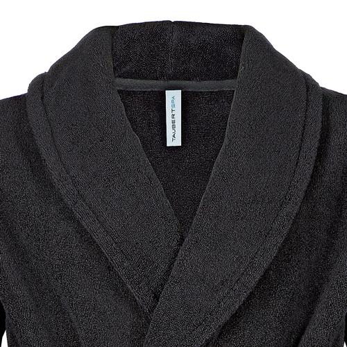 taubert sauna herren robe bademantel mit gro em kragen 120cm dessous insel. Black Bedroom Furniture Sets. Home Design Ideas