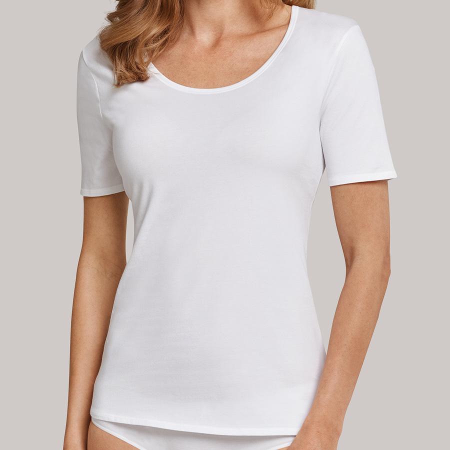 Schiesser  Damen  95//5  T-Shirt  schwarz oder weiß 36 38 40 42 44 46 48  NEU