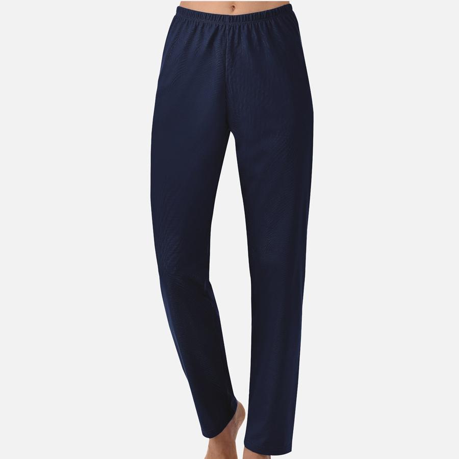 Farbe navy. Trigema Single-Jersey lange weite Damen Schlafanzugshose 37092 008df5a8271