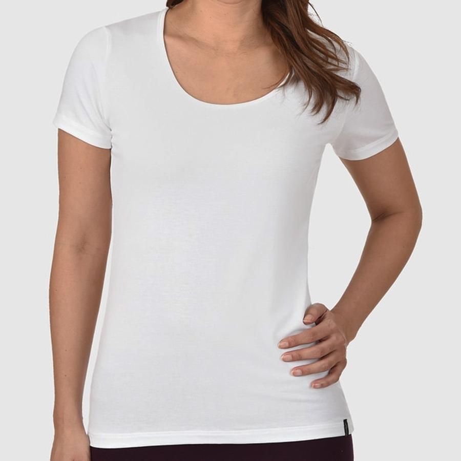 dc71b5ce9d1040 Trigema T-Shirt kurzärmlig mit weitem Ausschnitt u. weicher Viskose ...