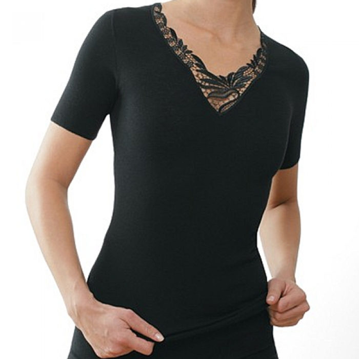 medima classic angora 20 damen shirt kurz rmlig mit spitze. Black Bedroom Furniture Sets. Home Design Ideas